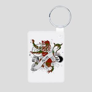 Scott Tartan Lion Aluminum Photo Keychain