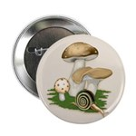 "Snail in Mushroom Garden 2.25"" Button (10 pack)"