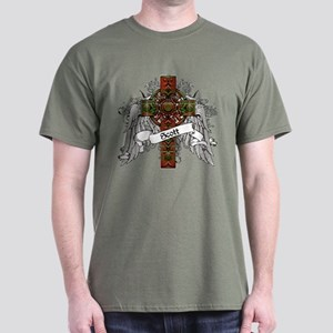 Scott Tartan Cross Dark T-Shirt