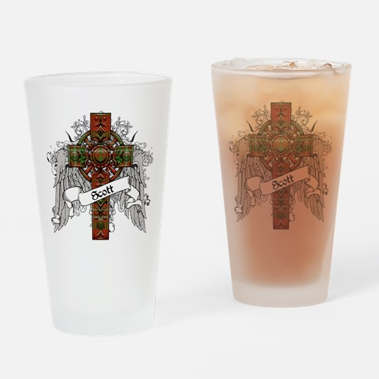 Scott Tartan Cross Drinking Glass