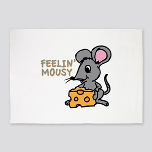 Feelin Mousy 5'x7'Area Rug