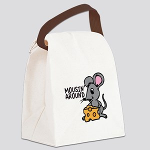 Mousin Around Canvas Lunch Bag