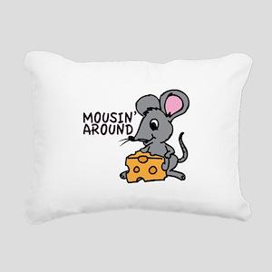 Mousin Around Rectangular Canvas Pillow