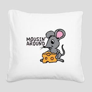 Mousin Around Square Canvas Pillow