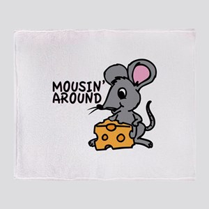 Mousin Around Throw Blanket