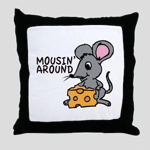 Mousin Around Throw Pillow