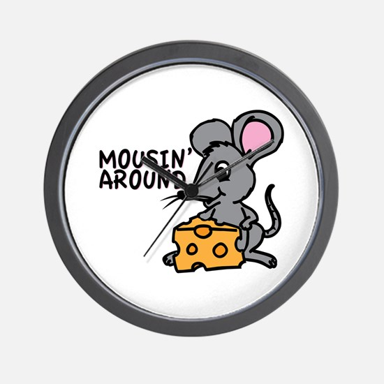 Mousin Around Wall Clock
