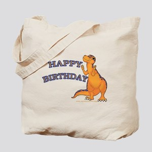 Happy Birthday Dino Tote Bag