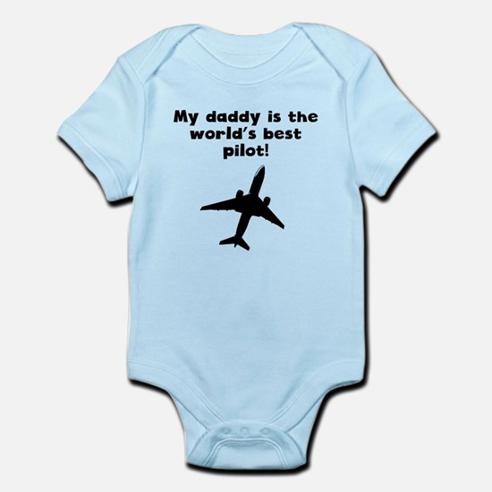 My Daddy Is The Words Best Pilot Body Suit