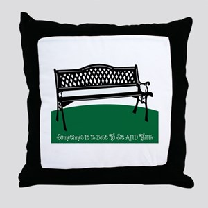 Sometimes It Is Best Throw Pillow