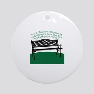 Bench Love Ornament (Round)