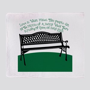 Bench Love Throw Blanket