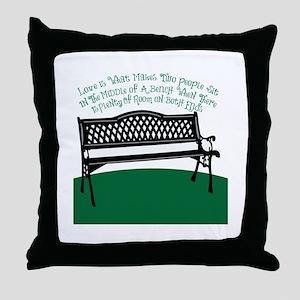 Bench Love Throw Pillow