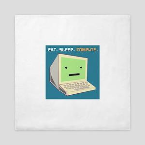 Eat Sleep Compute Queen Duvet