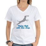 Disc Dog (2) Women's V-Neck T-Shirt