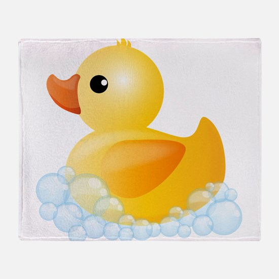 Rubber Duck Throw Blanket