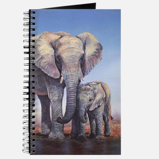 Elephants Mom Baby Journal