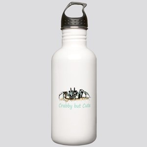 Crabby but Cute Fun Quote with Crab Water Bottle