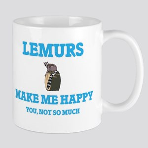 Lemurs Make Me Happy Mugs