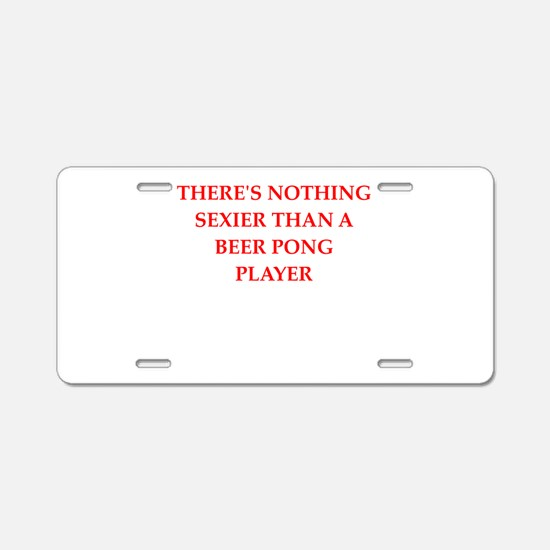 beer,pong Aluminum License Plate