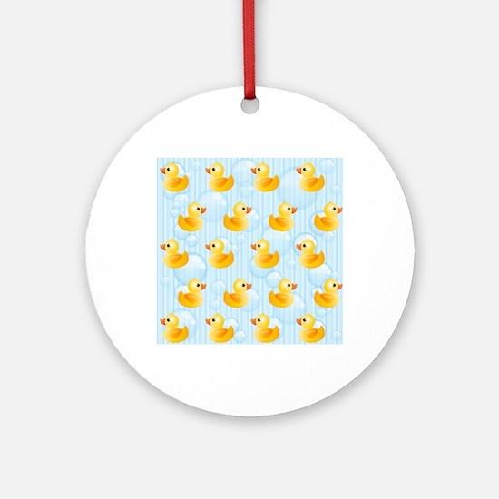 Little Ducks Round Ornament