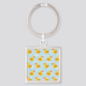 Little Ducks Square Keychain