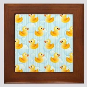 Little Ducks Framed Tile