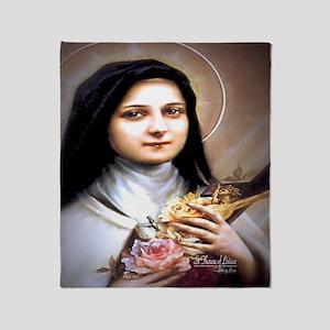 Saint Therese Lisieux Throw Blanket