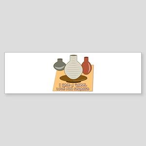 Wheel Love For Ceramics Bumper Sticker