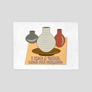 Wheel Love For Ceramics 5'x7'Area Rug