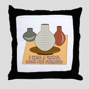 Wheel Love For Ceramics Throw Pillow