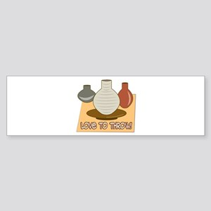 Love To Throw Bumper Sticker