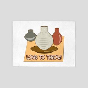 Love To Throw 5'x7'Area Rug