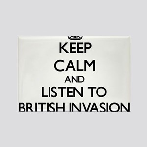 Keep calm and listen to BRITISH INVASION Magnets
