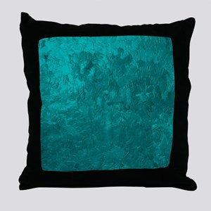 one color painting,aqua Throw Pillow