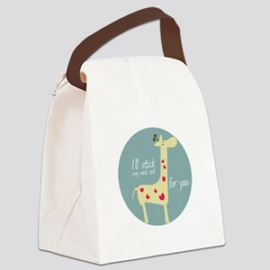 I ll stick ,my neck at for you Canvas Lunch Bag