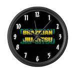 Brazilian Jiu Jitsu Large Wall Clock