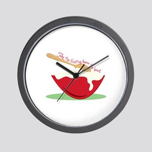 Take The Frosting leave the bowl Wall Clock