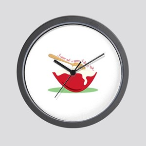 I Never Met A Spoon I didn't lick Wall Clock