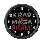 Krav Maga Large Wall Clock
