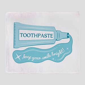 Toothpaste Keep Your Smile Bright Throw Blanket
