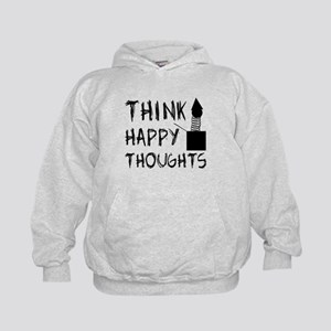 Think Happy Thoughts Kids Hoodie