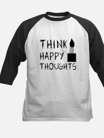 Think Happy Thoughts Kids Baseball Jersey