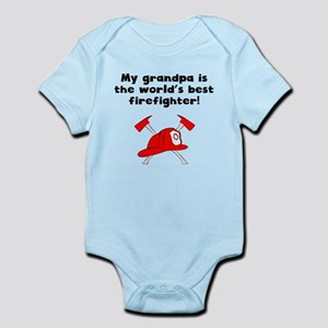 My Grandpa Is The Words Best Firefighter Body Suit