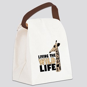 LIVING THE WILD LIFE Canvas Lunch Bag