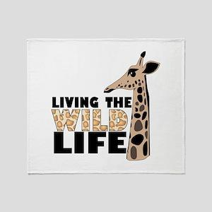 LIVING THE WILD LIFE Throw Blanket