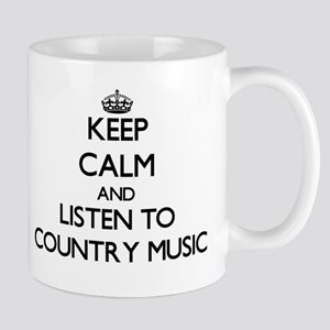 Keep calm and listen to COUNTRY MUSIC Mugs