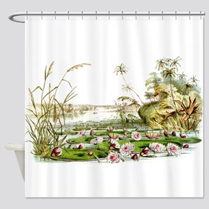 Waterlilies & Lilypads Shower Curtain