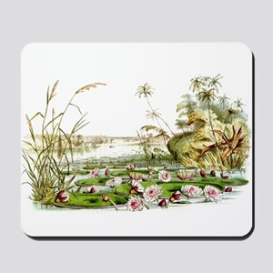 Waterlilies & Lilypads Mousepad