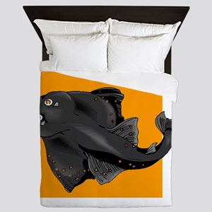 Black Devil Ray Queen Duvet
